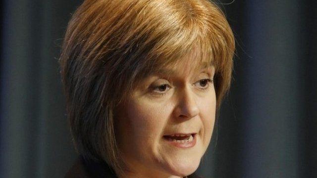 Nicola Sturgeon, deputy first minister of the SNP.
