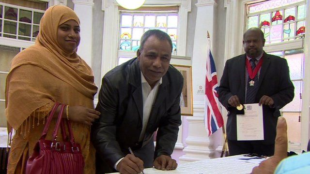 Citizenship ceremony in Newham