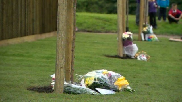 Memorial trees planted in memory of Kim, Kayleigh and Kimberley Buckley