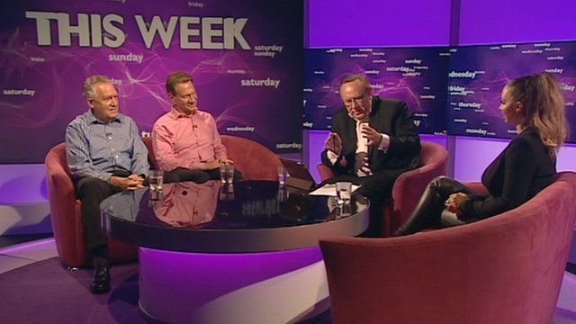 Peter Hain, Michael Portillo, Andrew Neil and Jodie Marsh