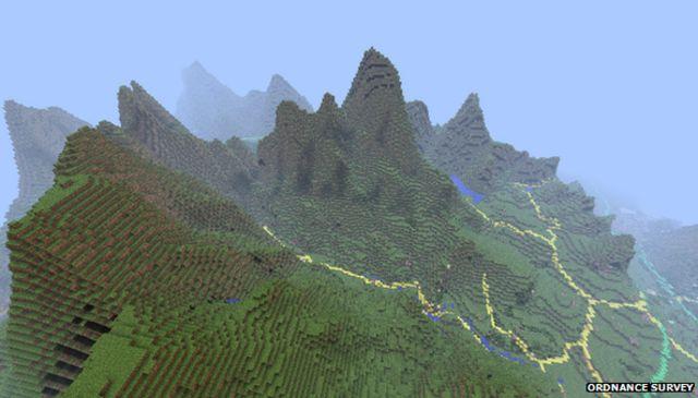 Minecraft game adds Ordnance Survey GB terrain data