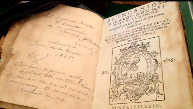The original copy of Don Quixote