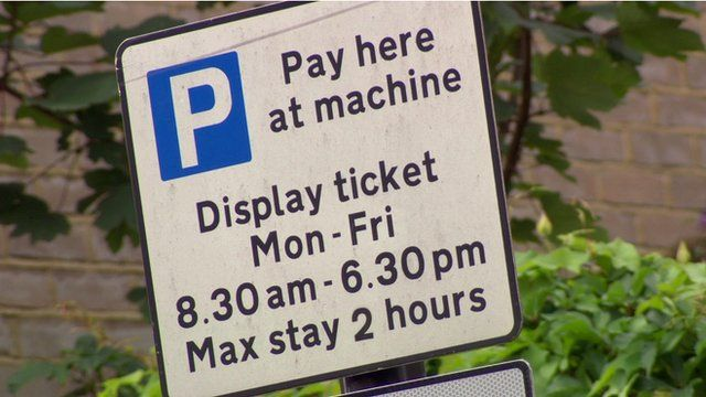 Pay-and-display parking sign
