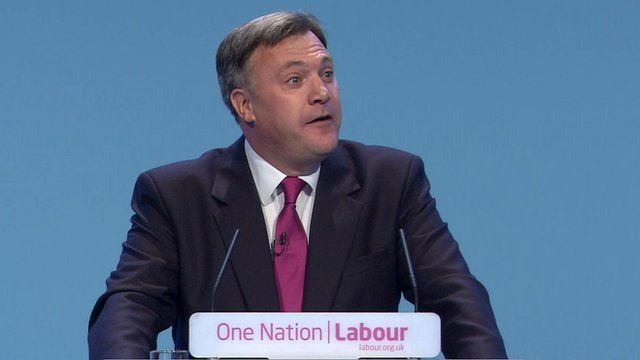 Ed Balls at the Labour 2013 conference