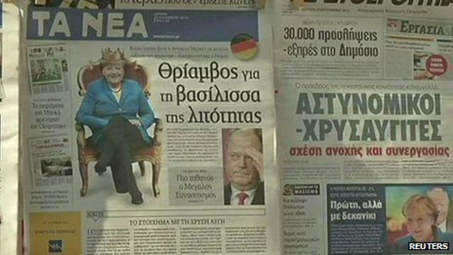 Concern in Greece over Angela Merkel's win
