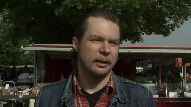 A German citizen speaks to the BBC about what he thinks about the election results