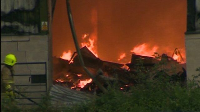 The fire affected six factory units