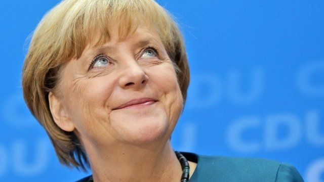 German Chancellor and chairwoman of the Christian Democratic party, CDU, Angela Merkel,