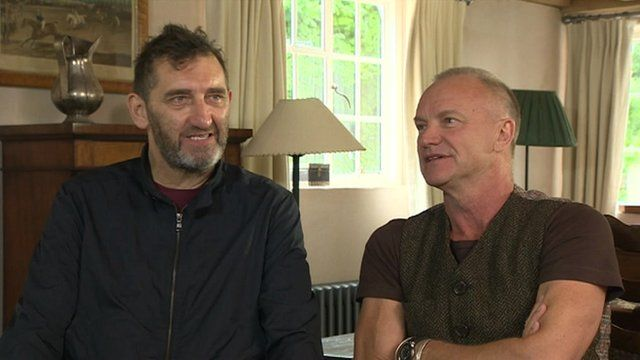Jimmy Nail and Sting