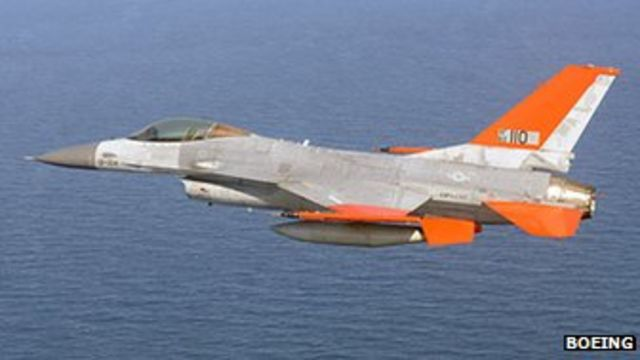Empty F-16 jet tested by Boeing and US Air Force