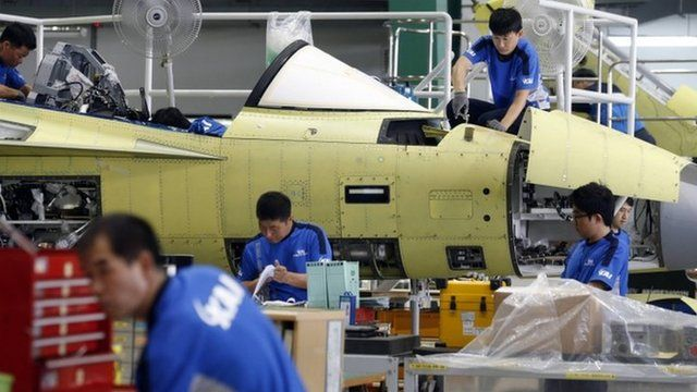 Assembly plant of Korea Aerospace Industries (KAI) in Sacheon