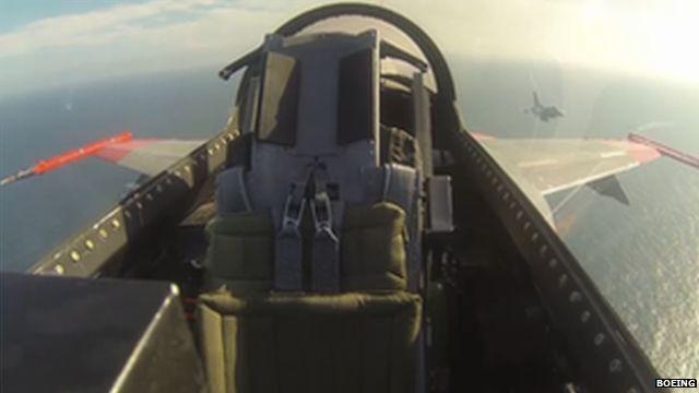 Pilotless jet in test flight