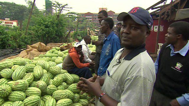 Market trader James Mwangi