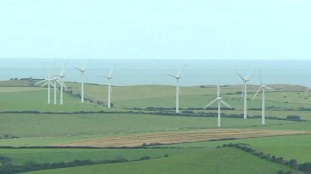 Wind turbines in north Wales
