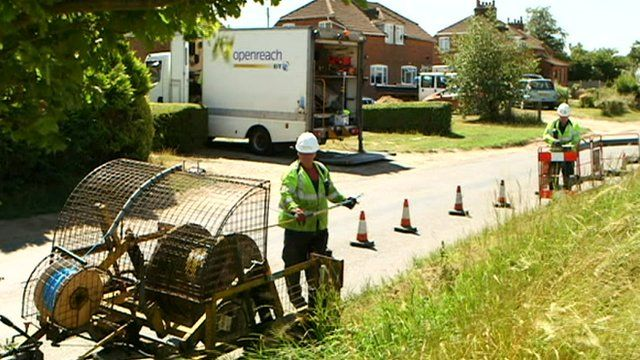 Broadband being installed