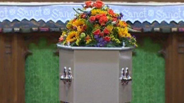 April Jones' coffin