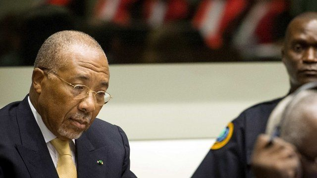 Former president of Liberia, Charles Taylor