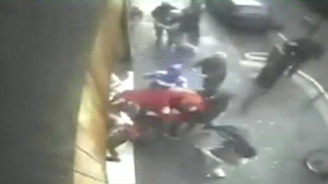 Anti-fascist attack CCTV