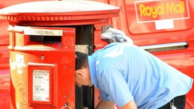 Mail worker collecting post