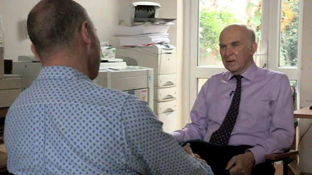 Vince Cable interviewed by Chris Jackson
