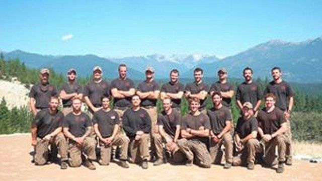 The Granite Mountain Interagency Hotshot Crew is shown in this undated handout photo provided by the City of Prescott