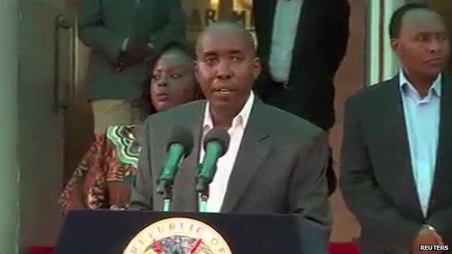 Kenya's Interior Minister Joseph Ole Lenku