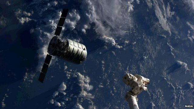 Orbital's Cygnus freighter reaches International Space Station