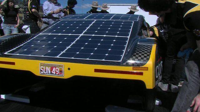 Solar powered sports car