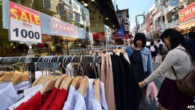 Shoppers in Japan
