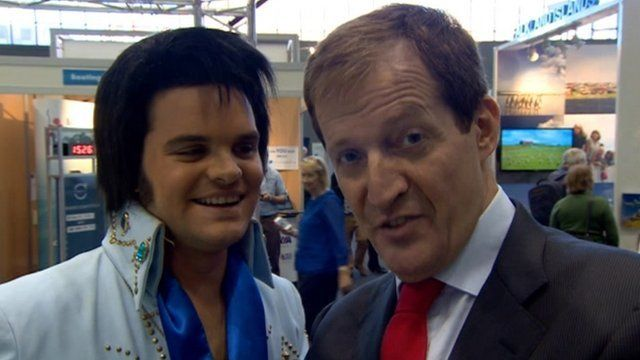 Alastair Campbell with Elvis