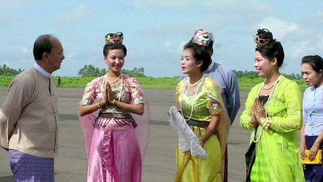 Burmese President Thein Sein visits Rakhine state