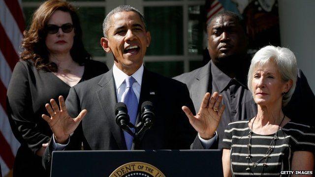President Obama in Rose Garden of White House