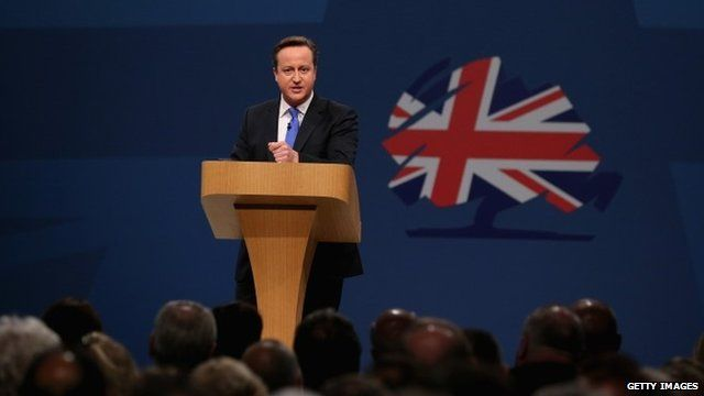 David Cameron delivers his keynote speech at the Tory party conference