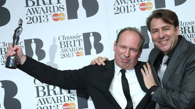 Classic Brit winner Hans Zimmer and presenter Jonathan Ross