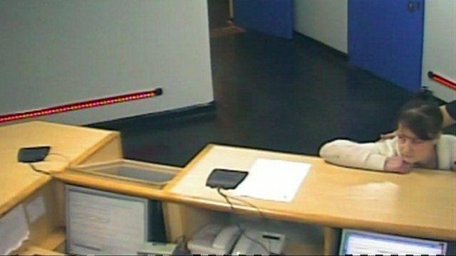 Amanda Hutton at Keighley police station