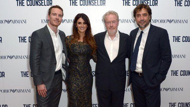 Michael Fassbender, Penelope Cruz, Ridley Scott and Javier Bardem