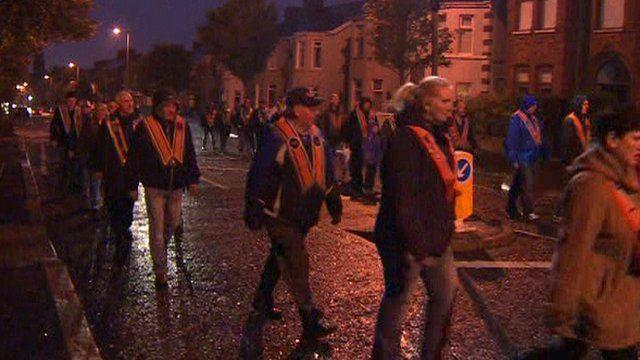 Parade late at night