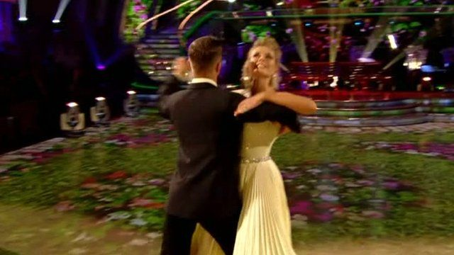 Rachel Riley dancing with Pasha Kovalev