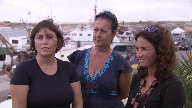 Three women from Lampedusa.