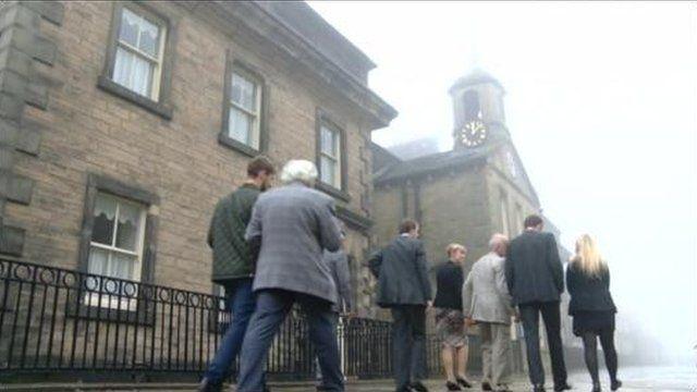 John Karlik returns to Fulneck school in Pudsey