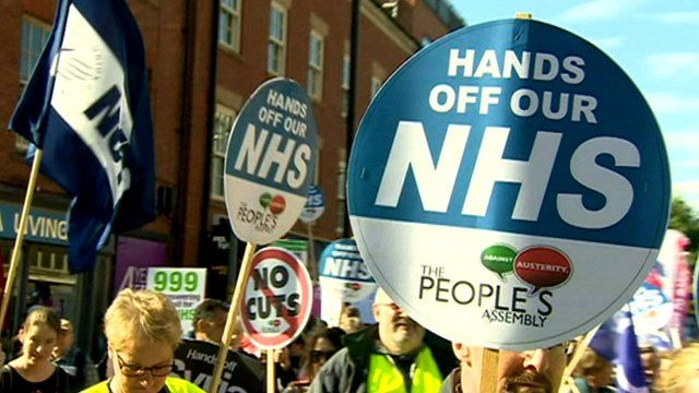 Rally in support of the NHS