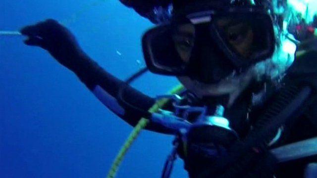 Diver at scene of wreck