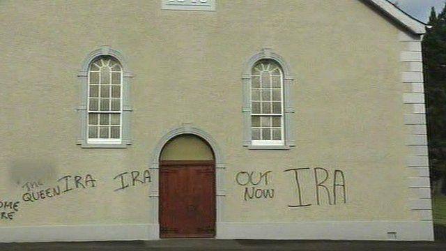 Graffiti over Church