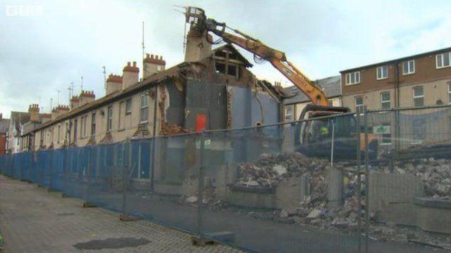 Homes demolition