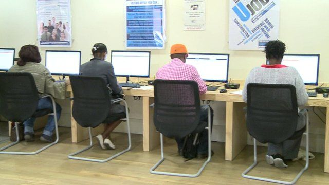 People sitting at computers