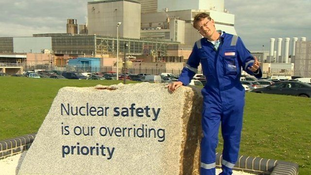 Mark Lynas at Hinkley Point power station