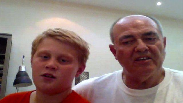 Joe Thompson and dad Tony