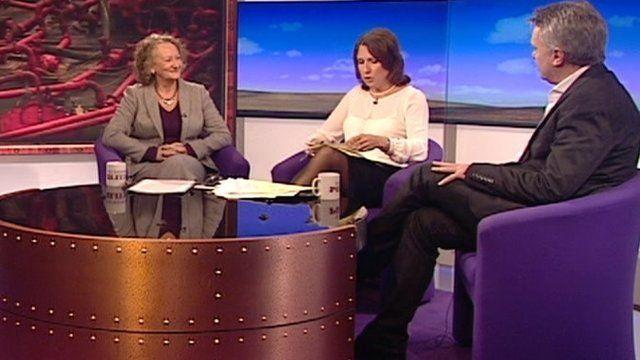 Jenny Jones, Jo Coburn and Andrew Austin