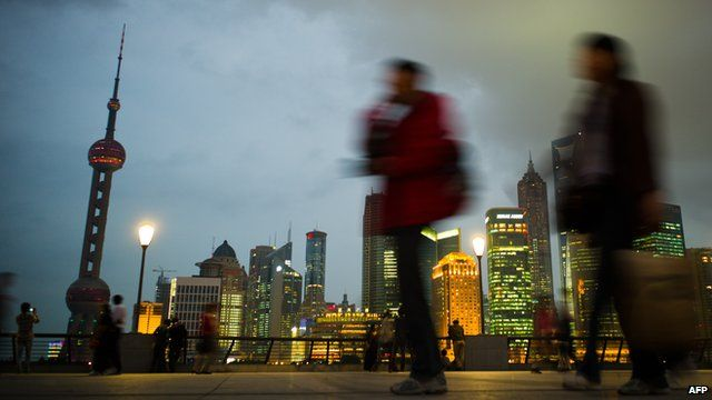 People walking in Shanghai
