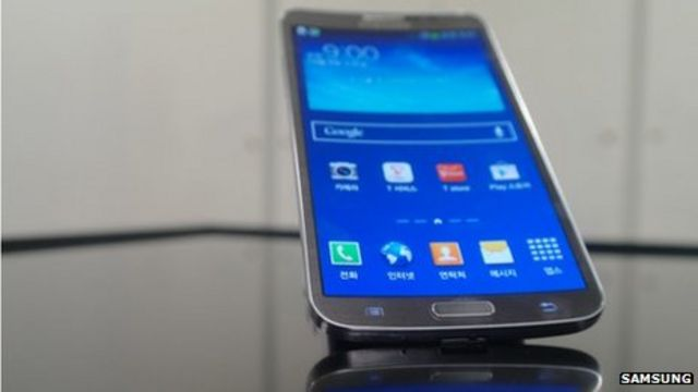 Samsung launches smartphone with curved display screen